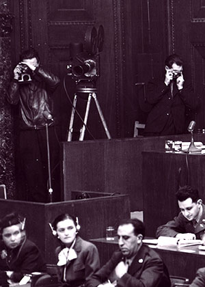 Filming the first Nuremberg trial.